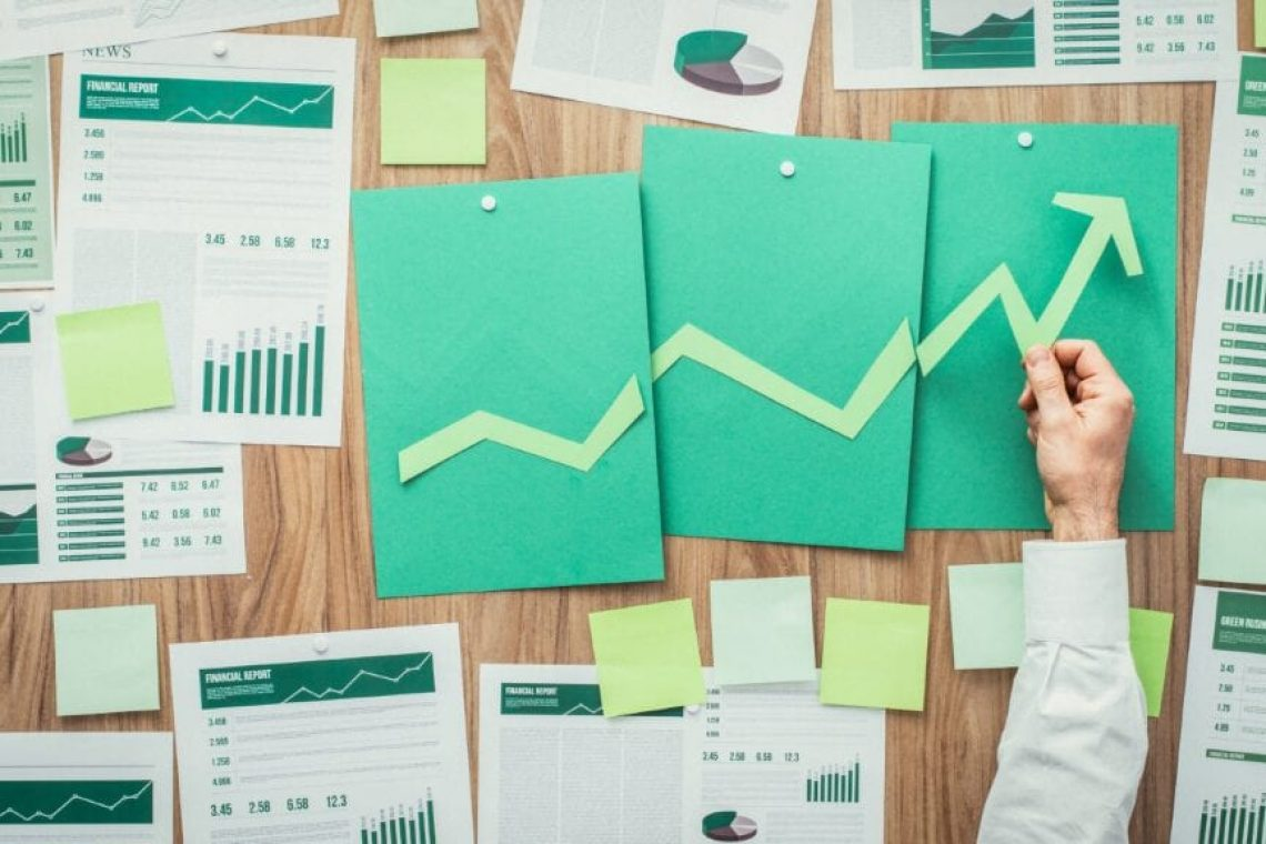 stock image of graphs